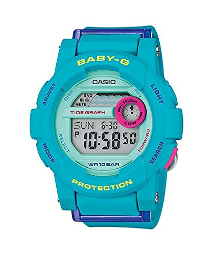 Casio Women's Baby-G Tide Graph Thermometer World Tim Res...