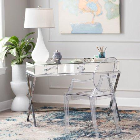 Belham Living Reflection Writing Desk (Mirrored Writing Desk)
