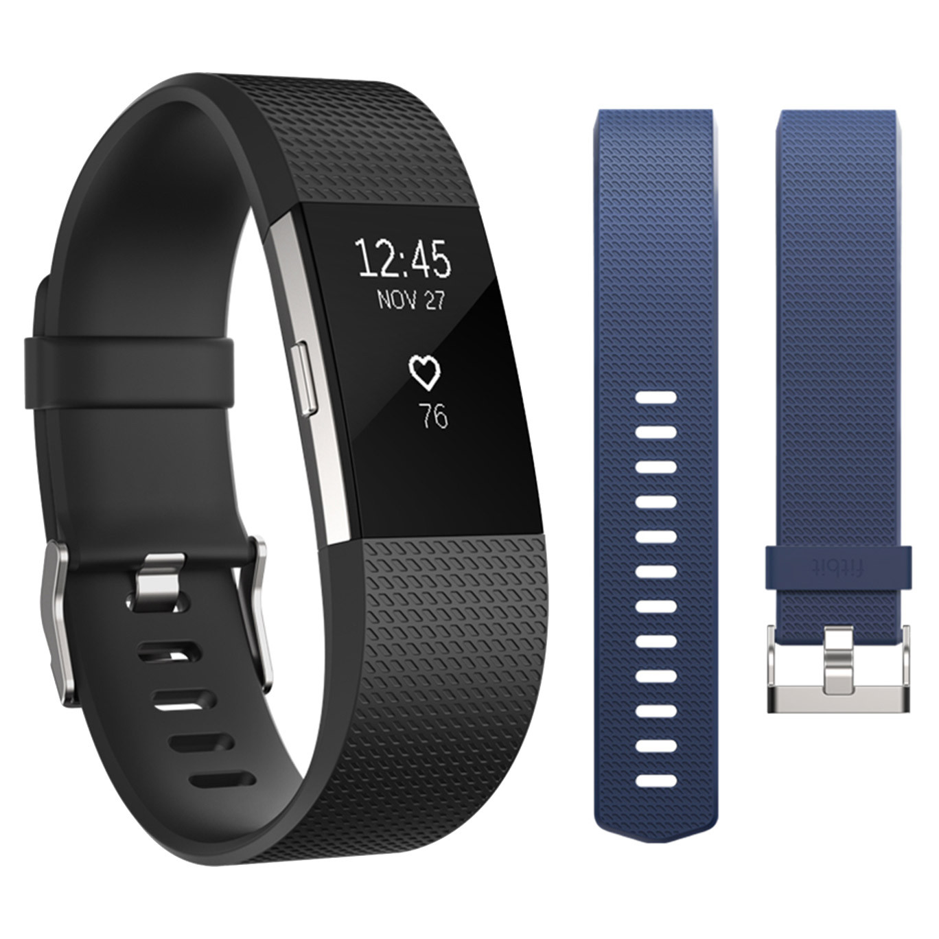 Fitbit Charge 2 Activity Tracker Bundle - Large