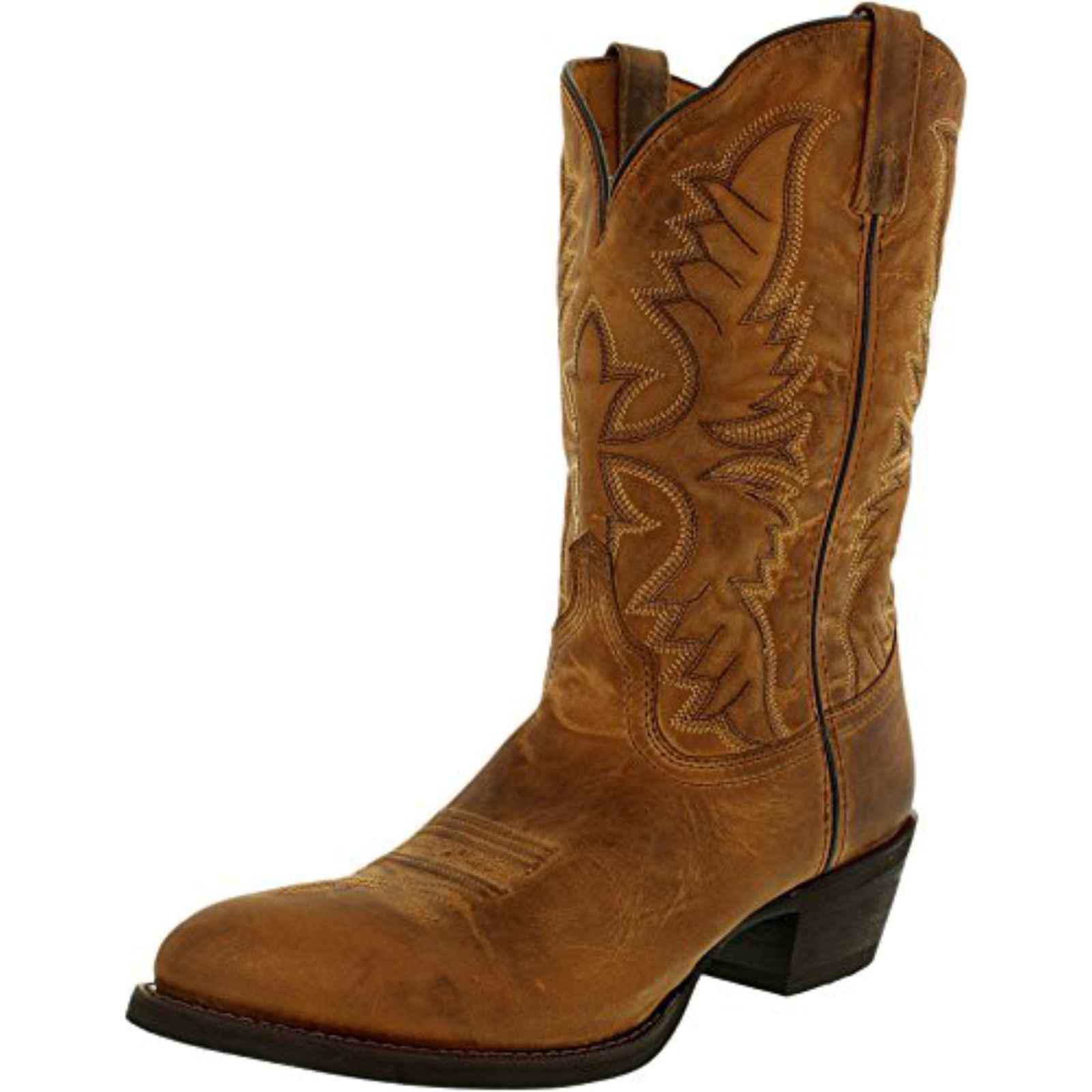 "Laredo Men's 12"" Birchwood Leather Cowboy Boot Tan Round Toe, 68452 by Laredo"