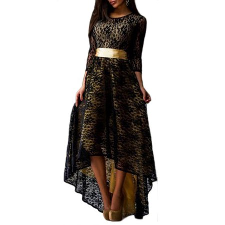 OUMY Women Lace Ball Gown Evening Party Maxi Dress Plus Size - Halloween Evening Gowns