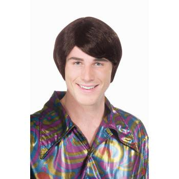 70'S GUY WIG-BROWN - 70s Disco Wig