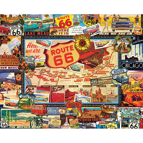 White Mountain Puzzles Route 66 Puzzle, 1000 Pieces