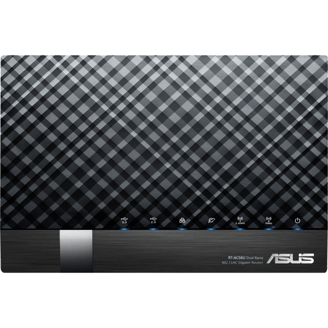 Asus RT-AC56U IEEE 802.11ac  Wireless Router - 2.40 GHz ISM Band - 5 GHz UNII Band - 867 Mbit/s Wireless Speed - 4 x Net