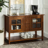 Manor Park Transitional Glass Door Wood Sideboard TV Stand Deals