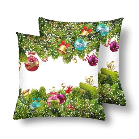 GCKG Merry Christmas Tree Happy New Year Decor Throw Pillow Covers 18x18 inches Set of 2 - image 3 of 3
