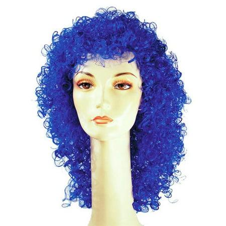 Wig Web (Morris Costumes LW59BU Wet Look Blue Wig)
