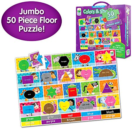 The Learning Journey Jumbo Colors And Shapes Floor Puzzle - image 2 de 3