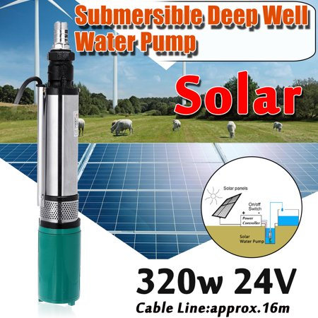 320W DC 24V Electric Vehicle Solar Powered Deep Well Water Pump Stainless Steel Solar Water Pump