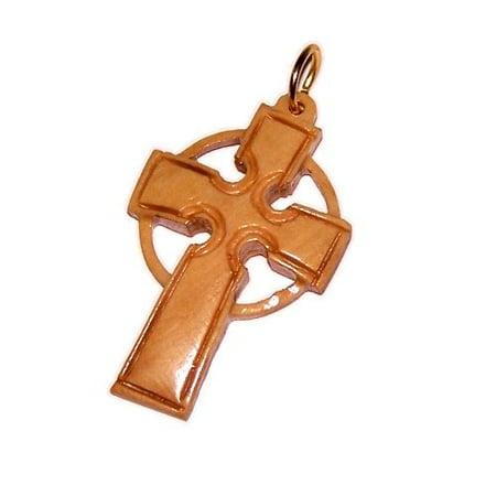 Hand carved Celtic Cross pendant - Medium (6 x 3.7 cm - 2.4 x 1.5 inch) Hand Carvings Pendants