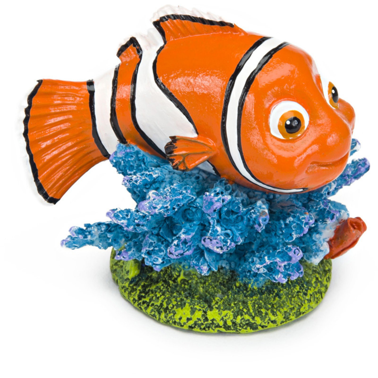 Penn Plax Finding Nemo On Coral Mini Aquarium Ornament