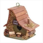 SWM 29634 8'' L x 6 1/2'' W x 8'' H Love Shack Birdhouse - Wood.