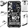 For LG Xpression Plus (2018) Case Hybrid TPU Fusion Phone Cover (Do You Not Understand) Hybrid Case Information:Brand new 2-layer hard plastic case combined with flexible rubber TPU inner cover.• Hybrid case is a molded perfect-fit to your phone.• Double the protection both front and back hard cover.• Protects your phone against any scratch, bump, finger marks, and dirt.• High quality TPU that is resistant to shock and has a great grip.• Custom cutout design, giving you total access to all functions and buttons without removing your phone from case.• Designed in US with superior quality.•Compatible for LG Xpression Plus (2018)Phone NOT included.