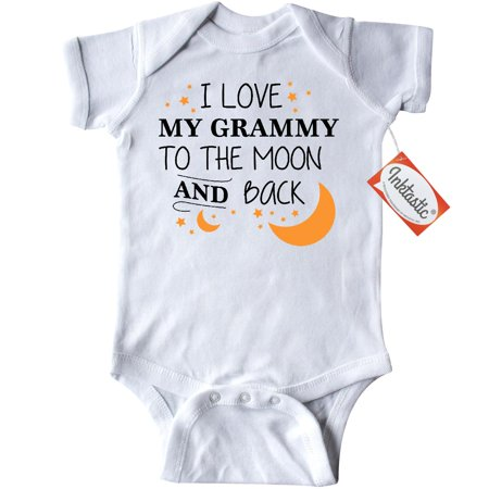 Inktastic I Love My Grammy To The Moon And Back Infant Creeper Baby Bodysuit Family You Grandma Grandmother Granny Gran Stars Gift One-piece - One Piece Onesie