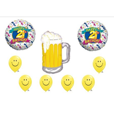 BEER 21st BIRTHDAY PARTY Balloons Decorations Supplies for $<!---->