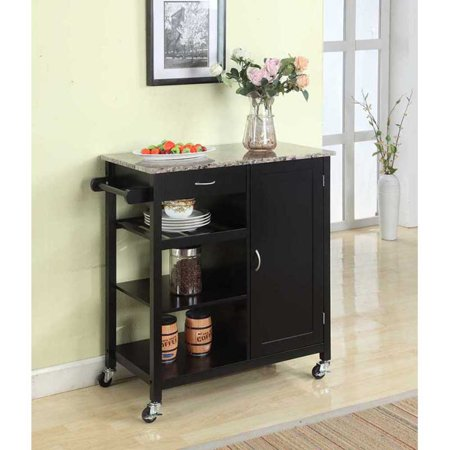 K Amp B Furniture Y Kitchen Island Cart Walmartcom - Kitchen island cart walmart