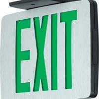 Progress Lighting PEALE-SG-EM-16 Single Sided Green LED Exit Sign