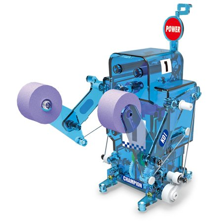 DIY Boxing Fighter Self-Assembled Electronic Building Robot Toy - Blue