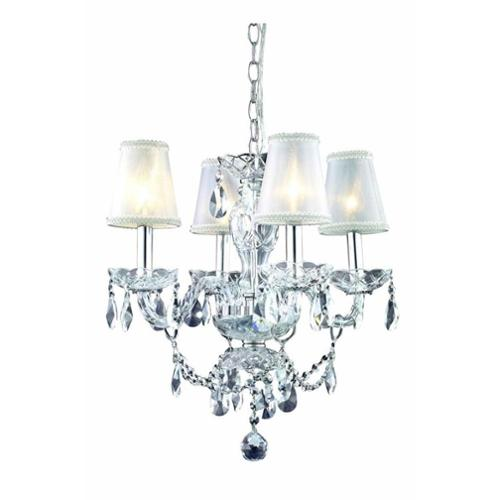 7834 Princeton Collection Hanging Fixture D17in H18in Lt:4 Chrome Finish (Royal Cut Crystal Clear)