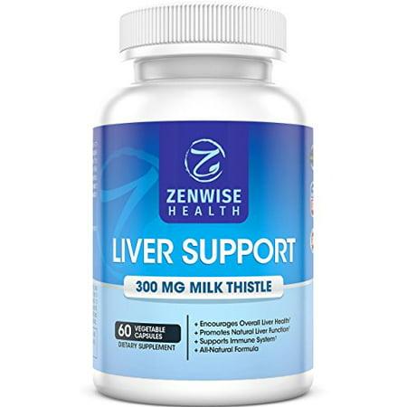 Suppléments de soutien du foie avec 300 mg d'extrait de chardon naturel silymarine Lait - Premium Cleanse Detox et formule pour