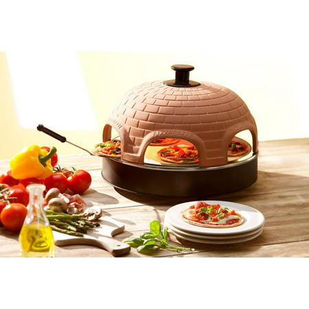 "Pizzarette – ""The World's Funnest Pizza Oven"" – 6 Person Model - Countertop Pizza Oven – Europe's Best-Selling Tabletop Mini Pizza Oven Now Available In The USA – Dual Heating"