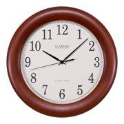 La Crosse Technology WT-3122A-INT 12.5 Inch Wood Veneer Atomic Analog Wall Clock