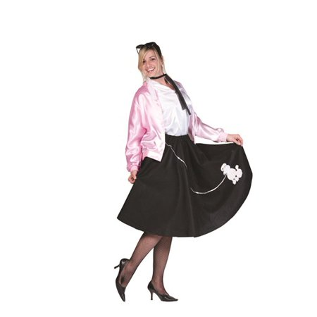 50s Poodle Skirt Plus Size Costume (50's Costumes For Halloween)