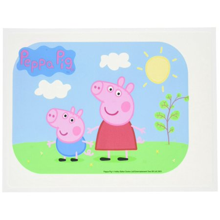 Pig Crafts (Peppa Pig Edible Icing Image Cake Topper, Peppa pig edible Icing image By Bakery)
