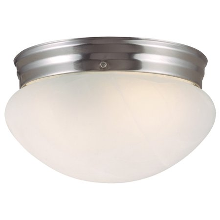 - Design House 511576 Millbridge 1-Light Ceiling Light, Alabaster Glass, Satin Nickel