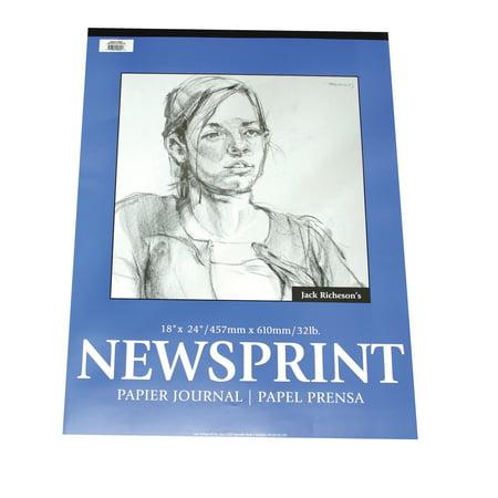 Jack Richeson Rough Newsprint Pad, 32 lb, 9 x 12 in, 50 -