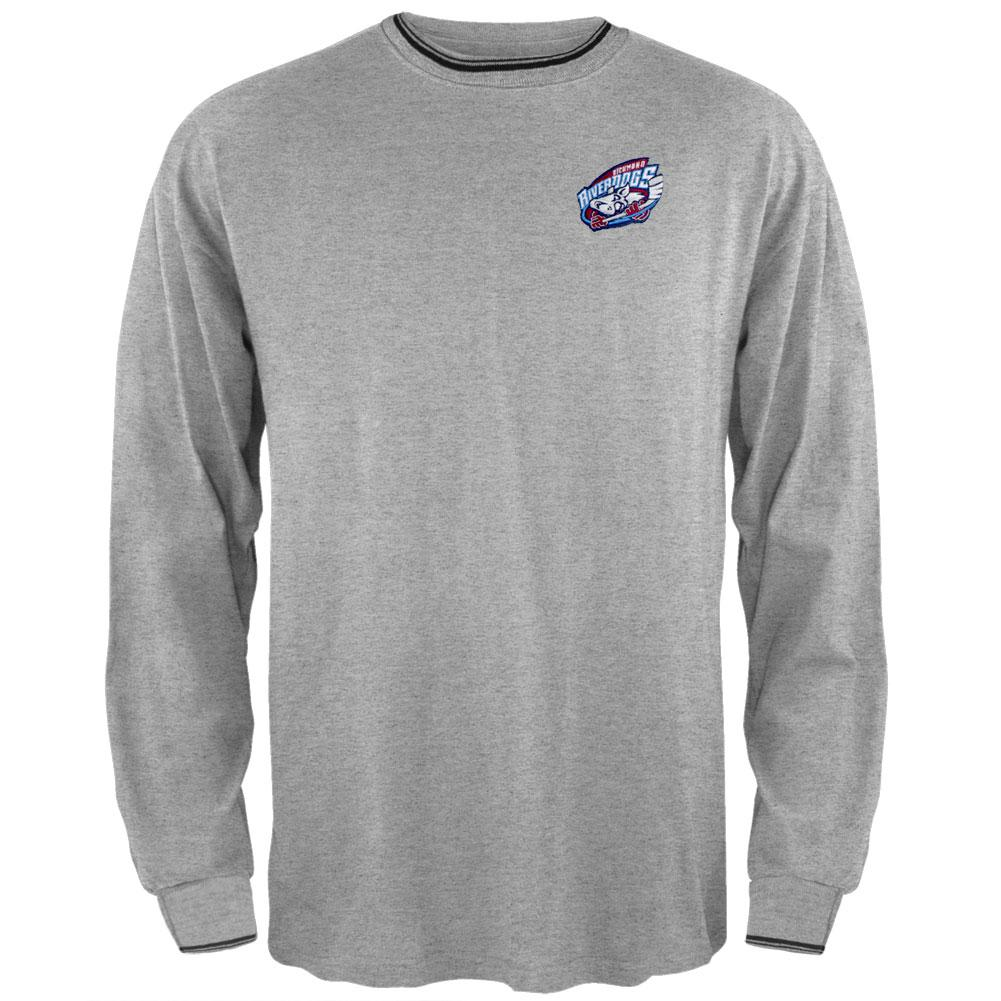 Richmond Riverdogs - Logo Striped Trim Grey Sweatshirt