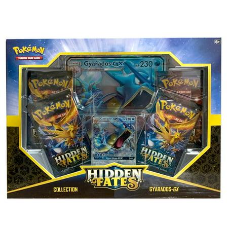 Pokemon Sun & Moon 11.5 Hidden Fates Gyarado-GX Box- 4 Hidden Fates Booster Packs | GX Card included Dark Crisis Booster Box