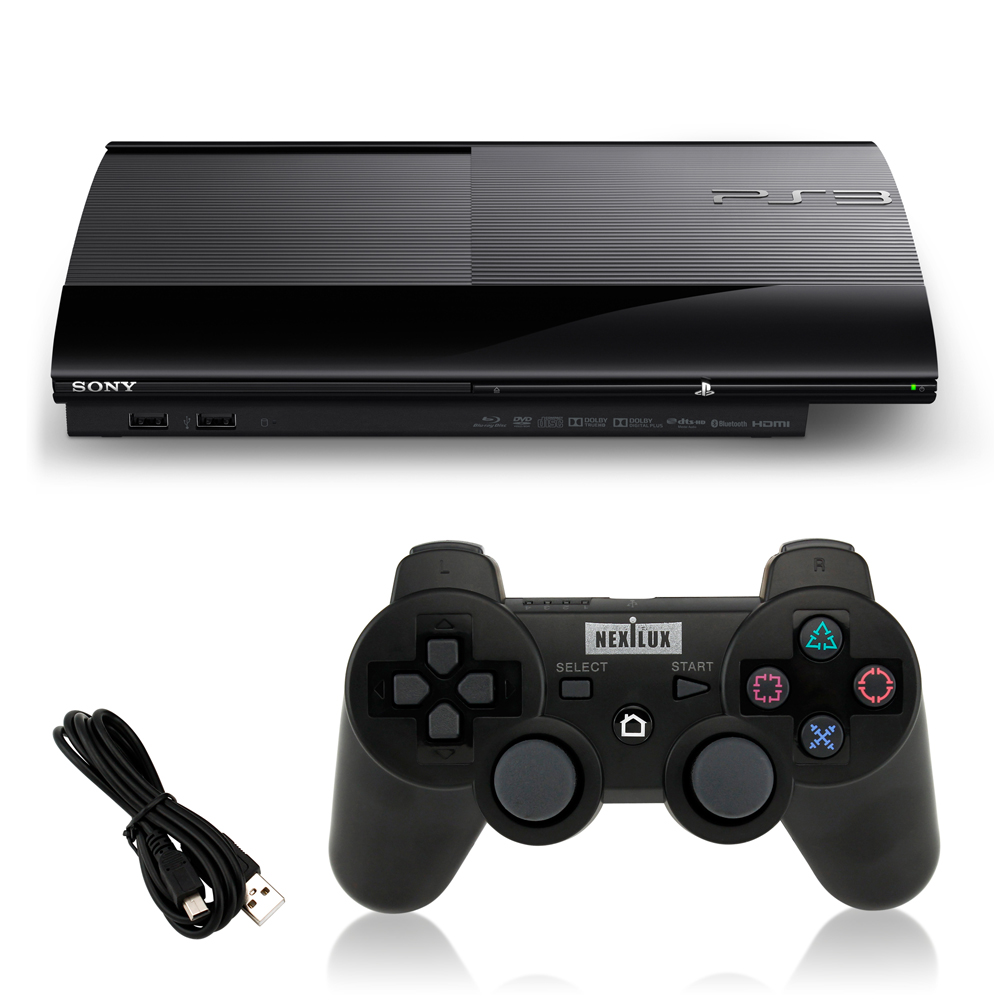 Sony PlayStation 3 Playstation 3 250GB Refurbished Console Black + Brand New NEXILUX Wireless Playstation 3... by