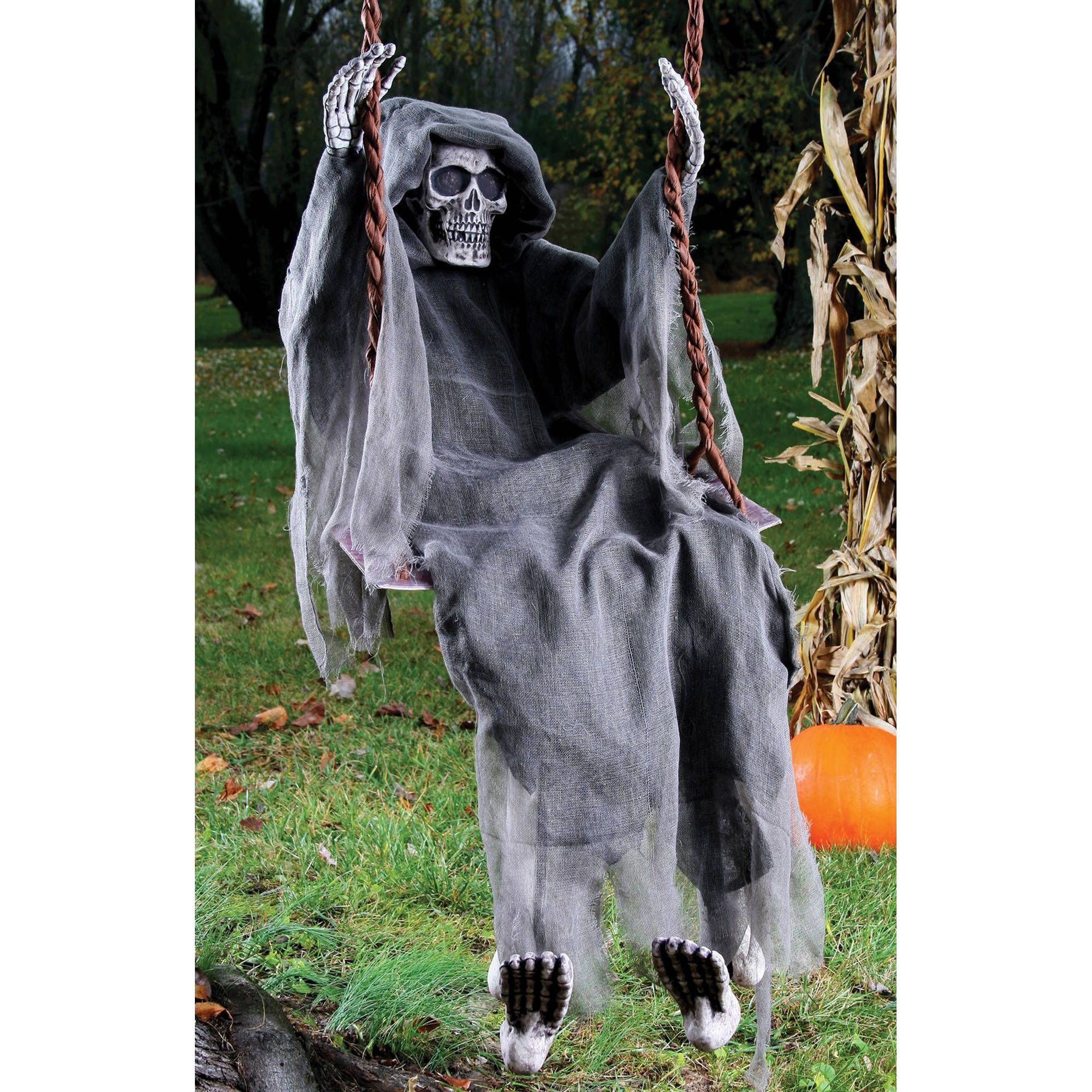 "60"" Decorative Reaper on Swing Halloween Decoration"