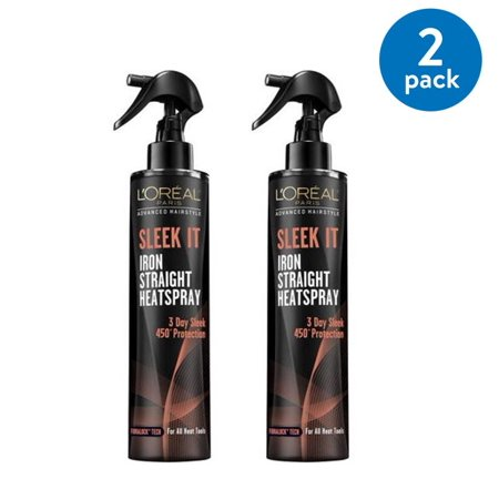 LOreal Paris Advanced Hairstyle SLEEK IT Iron Straight Heatspray 5.7 FL oz (Pack of 2)