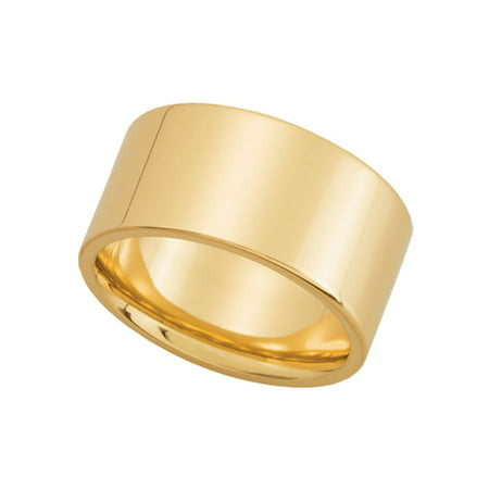 10mm Flat Comfort Fit Wedding Band in 14K Yellow Gold