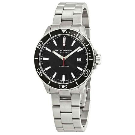 Raymond Weil Tango Black Bezel Men's Watch (Raymond Weil Diamond Wrist Watch)