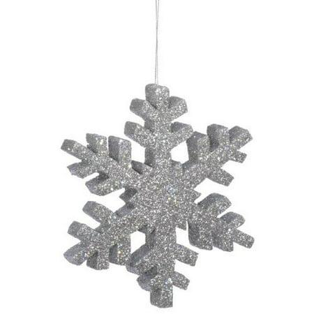 "Vickerman 18"" Silver Glitter Snowflake Christmas Ornament - image 1 de 1"