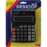 "Desktop 8-Digit Calculator, 7.5"" x 5.75"", Dual Power"