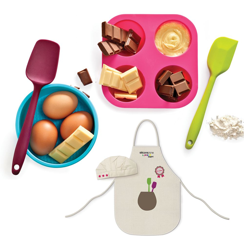 Click here to buy INNOKA Kids 6-Piece Silicone Baking Muffin Cupcake Mold Set by INNOKA.