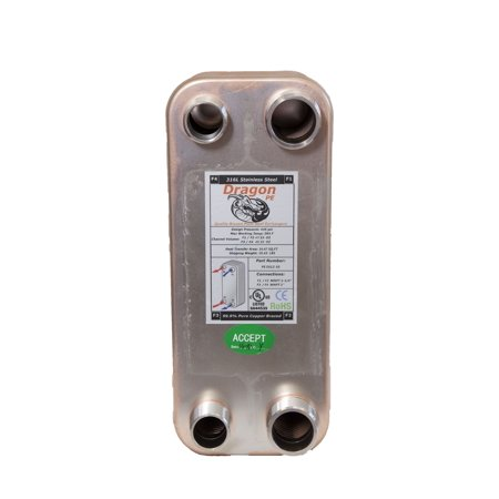 100 Brazed Plate Heat Exchanger, 250,000 BTU