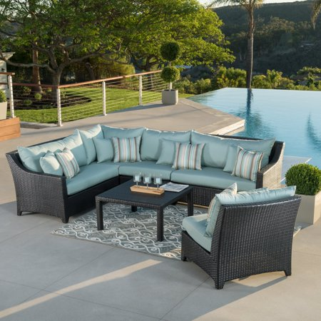 Rst Outdoor Bliss 6 Piece Corner Sectional Sofa And Coffee Table Set