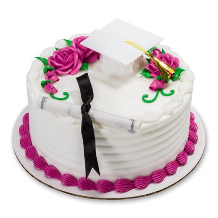 Decorating Ideas For Graduation Caps (decopac white graduation cap with tassel decoset cake)
