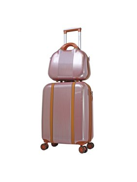 World Traveler Classique Lightweight Spinner 2-Piece Luggage Set - Rose Gold