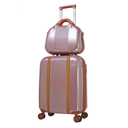 World Time Traveler (World Traveler Classique Lightweight Spinner 2-Piece Luggage Set - Rose Gold )