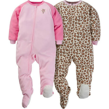 9626cc8a21c2 Gerber Childrenswear Llc - Baby Toddler Girl Microfleece Footed ...