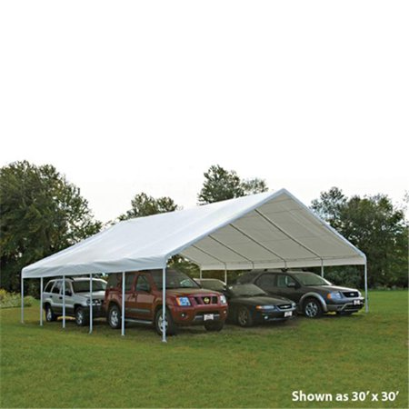 30x50 Canopy 2-.38 in. Frame White Cover - Walmart.com