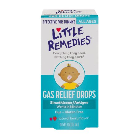 Little Remedies Natural Berry Flavor  Gas Relief Drops  0 5 Fl Oz
