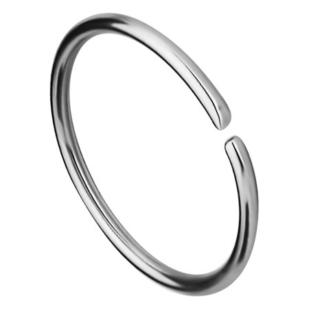 Hoop Round Ring (18G -20G Surgical Steel Seamless Nose Ring or Cartilage Hoop with Comfort Round Ends (Sold Individually))