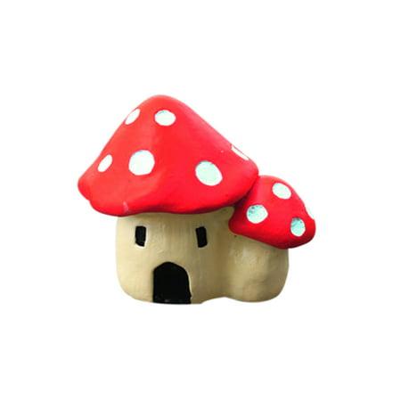 fashionhome Mushroom House Garden Ornament Resin Figurine Decor - image 1 of 8